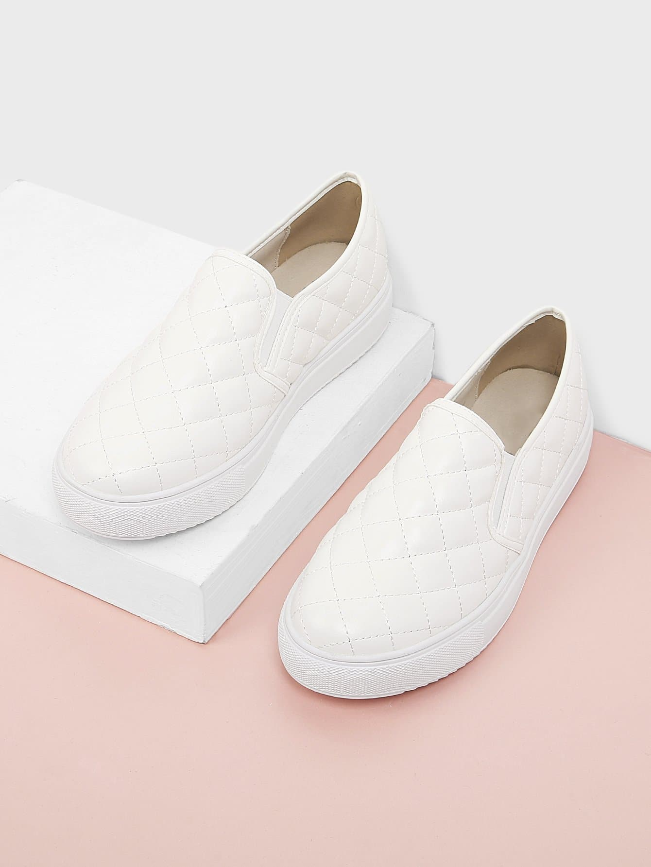 Quilted Slip On Sneakers quilted purses