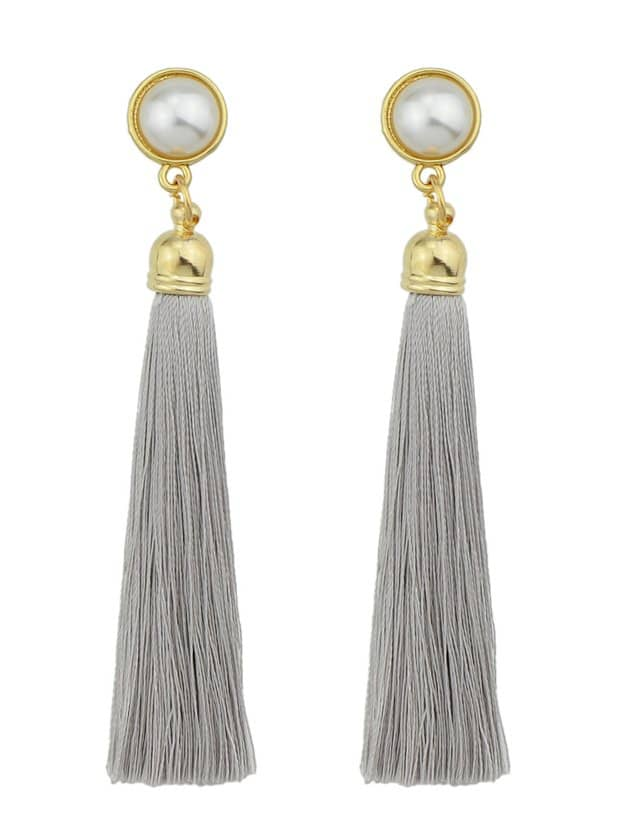 Gray Pearl Tassel Earrings игрушка ecx ruckus gray blue ecx00013t1