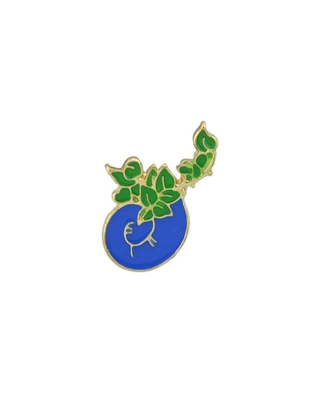 Blue Flower Grass Brooch все цены