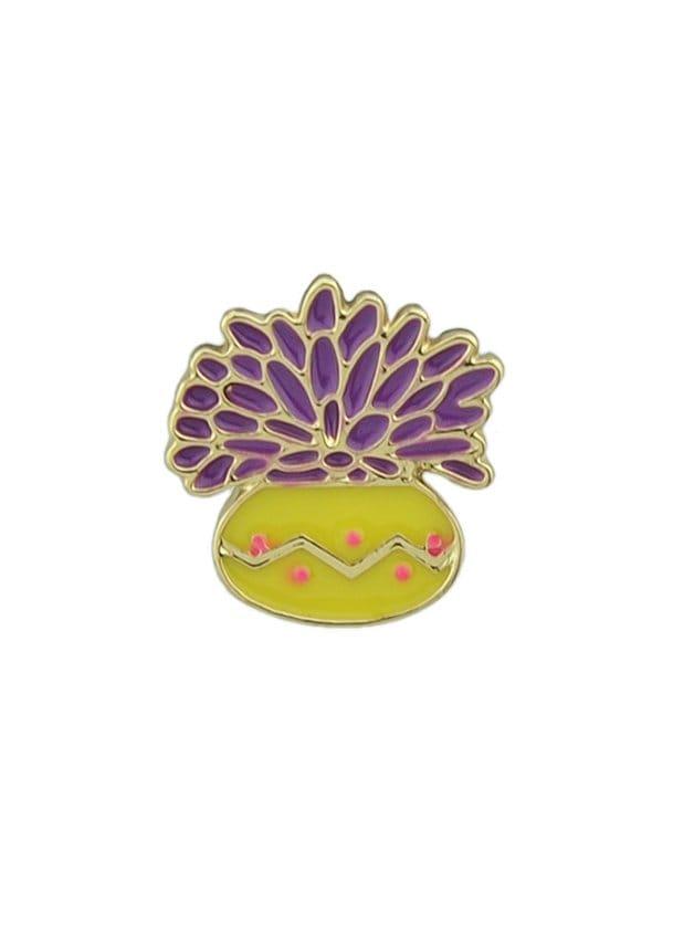 Purple Flower Grass Brooch все цены