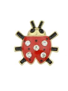 Seven-Spot Ladybird Brooch