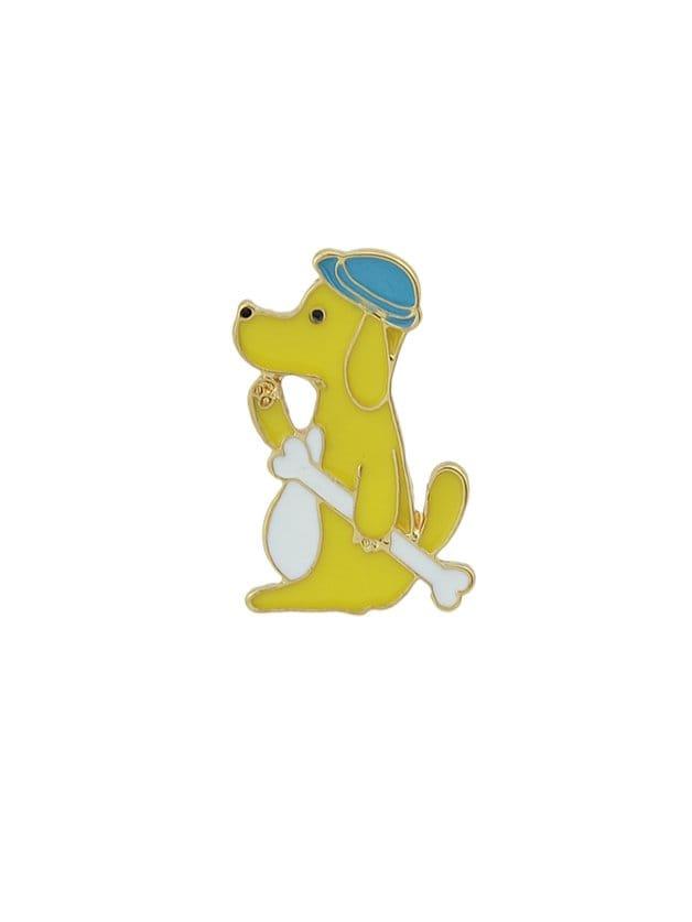 Yellow Cartoon Animal Brooch black cartoon animal brooch