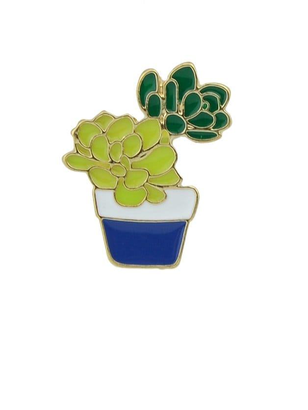 Blue Grass Cactus Brooch все цены