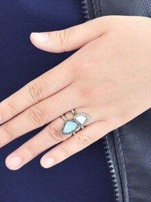 Irregular Gemstone Ring