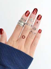 Vintage Carved Ring Set