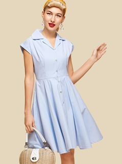 Roll Up Sleeve Shirt Dress