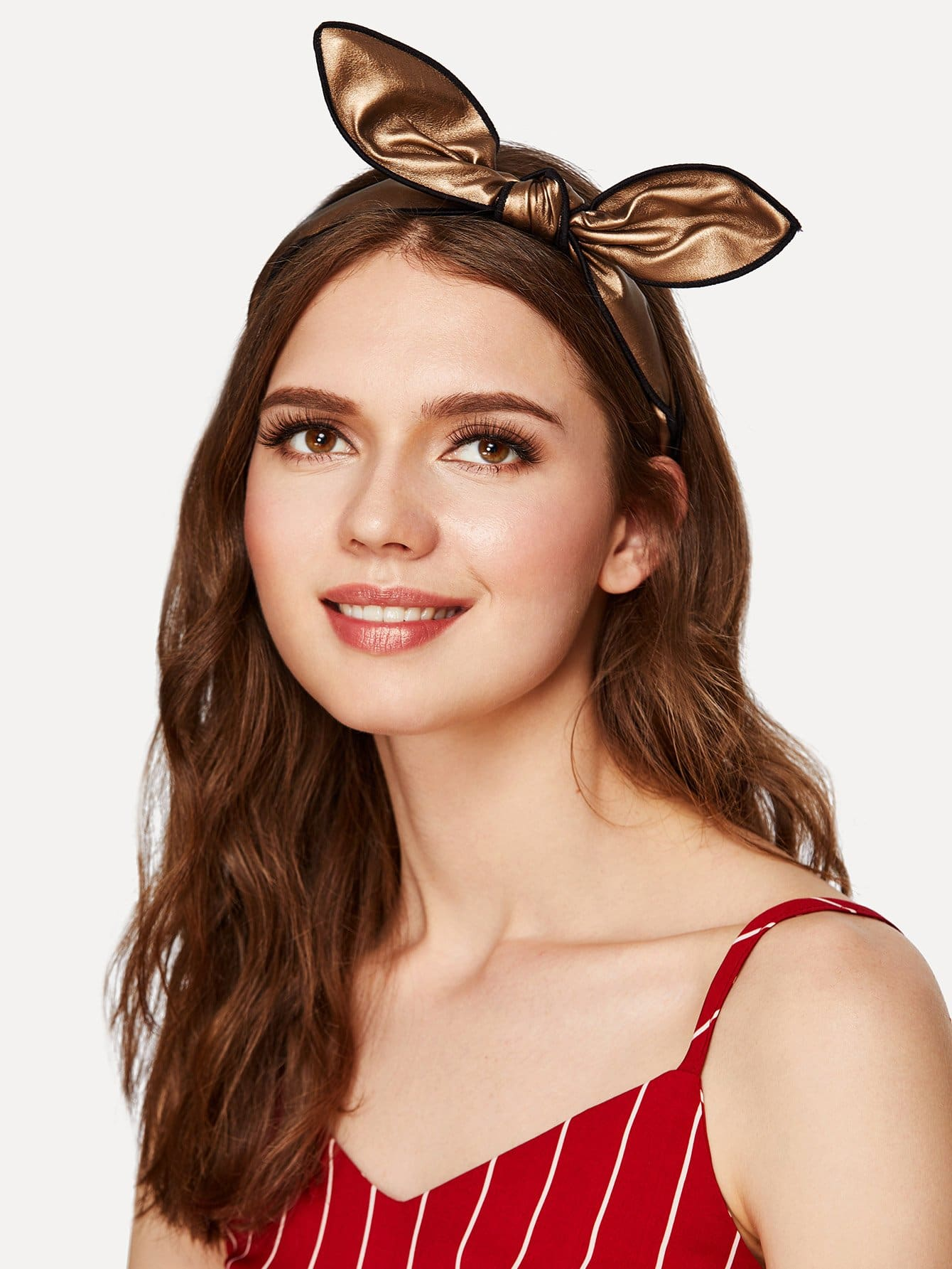 Contrast Trim Bow Tie Headband
