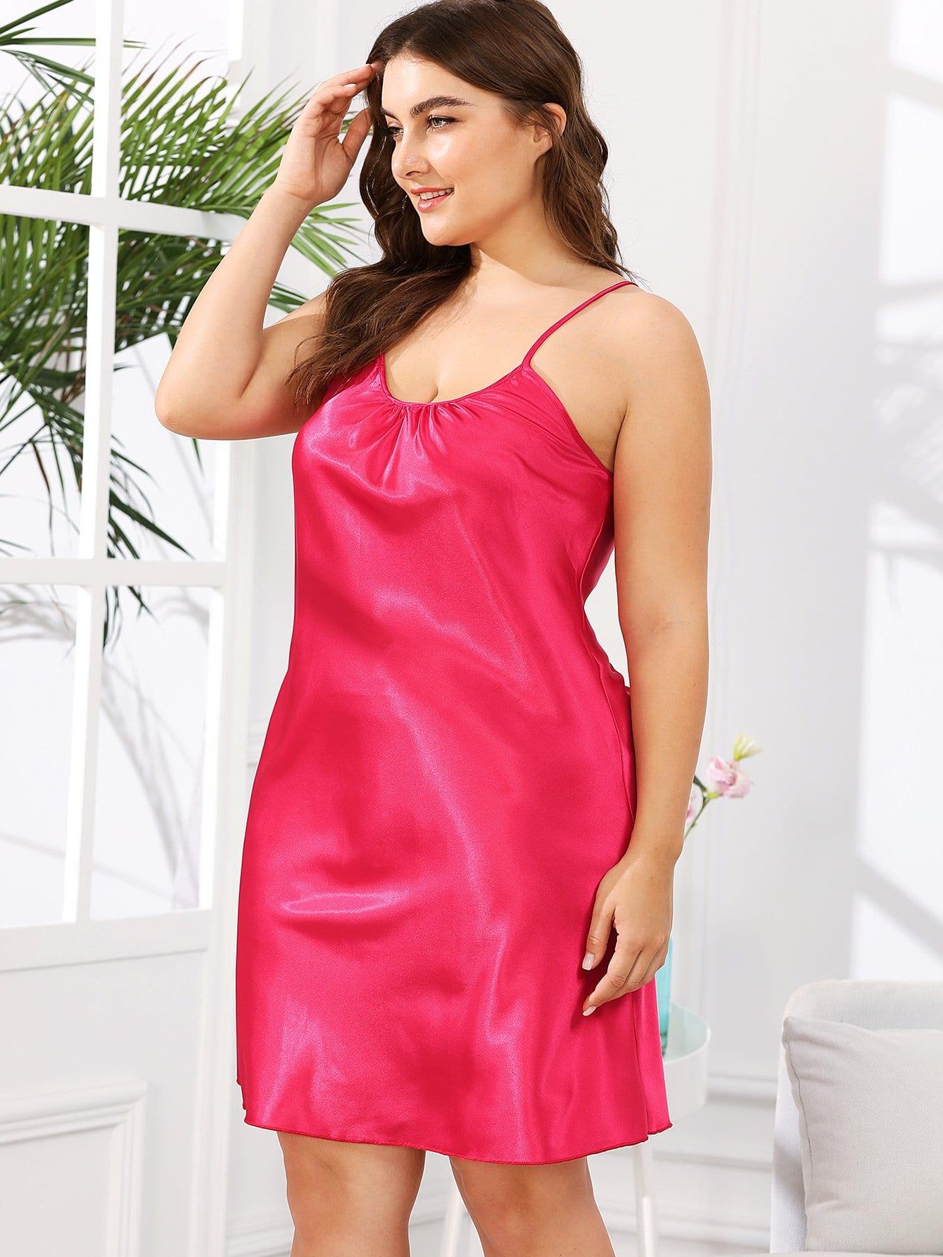 Solid Color Cami Dress