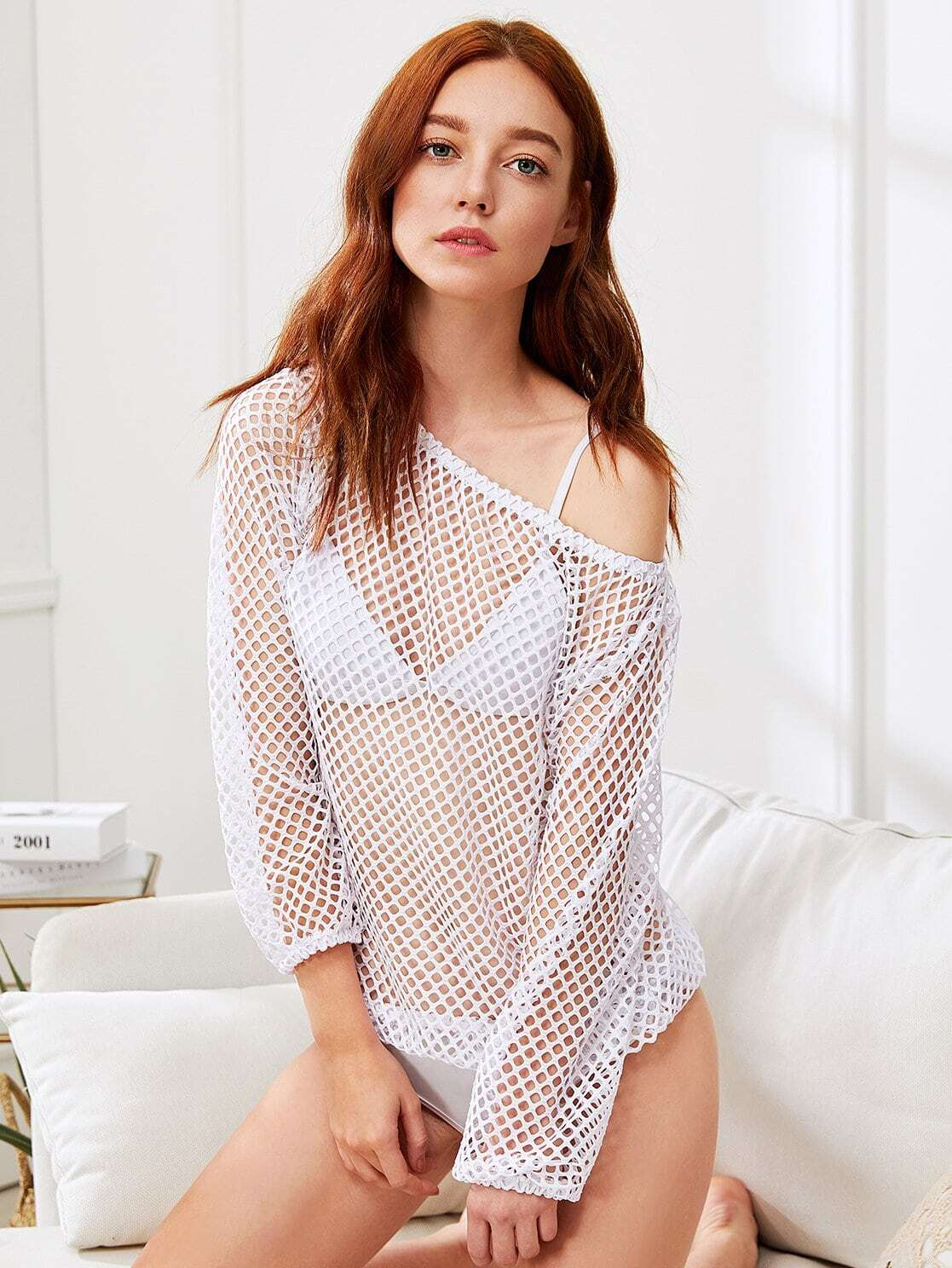 Hollow Out Fishnet Top