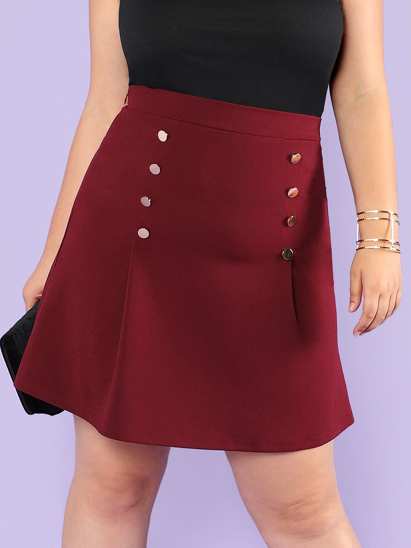 Plus Double Breasted Skirt double breasted pencil skirt