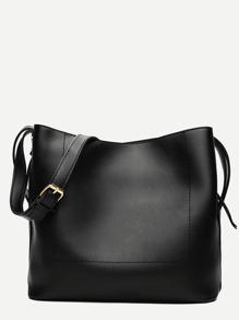 PU Shoulder Bag With Adjustable Strap
