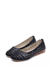 Scalloped Detail Cut Out Flats