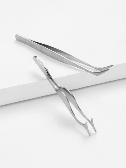 Metal Tweezers 2pcs