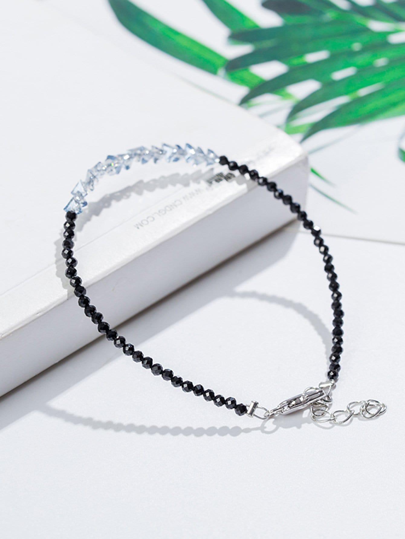 Crystal Beaded Bracelet plain beaded bracelet