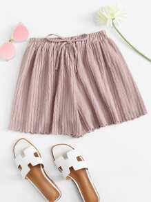 Chiffon Drawstring Waist Shorts