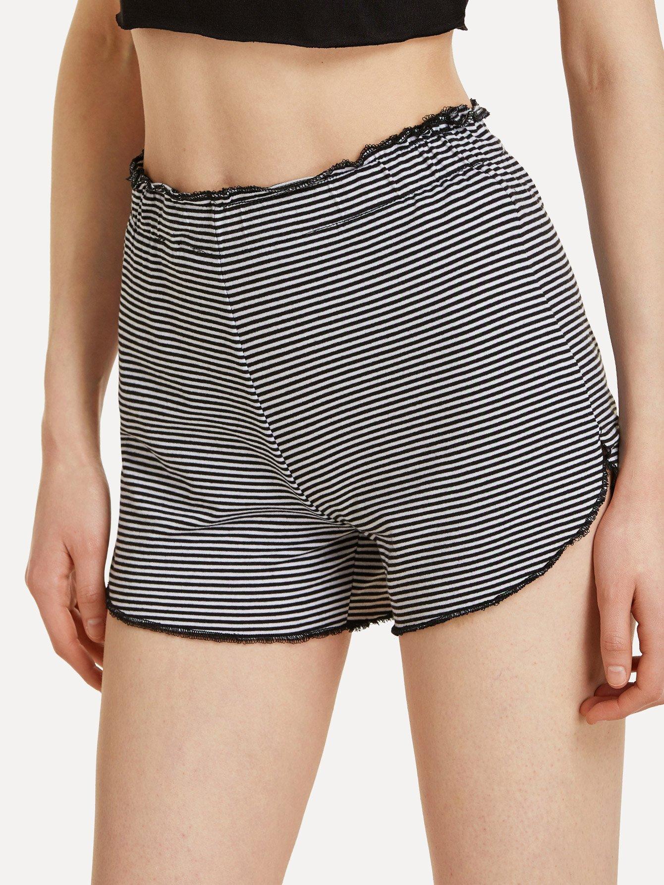 все цены на Lettuce Trim Elastic Waist Striped Shorts