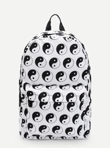 Otto Trigrammi Print Backpack