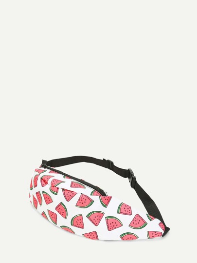 Watermelon Pattern Print Bum Bag