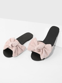 Bow Detail Flat Sandals