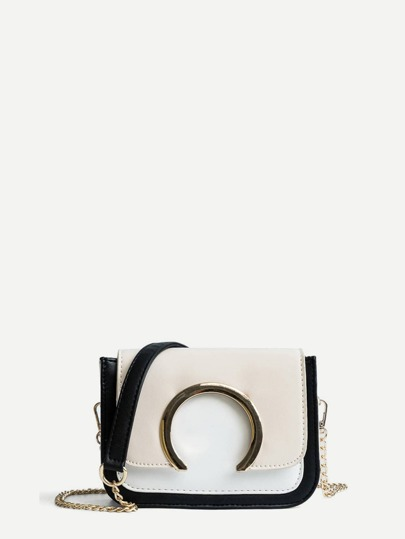 Metal Circle Crossbody Bag