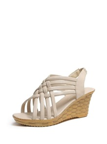 Strappy Slingback Wedge Sandals