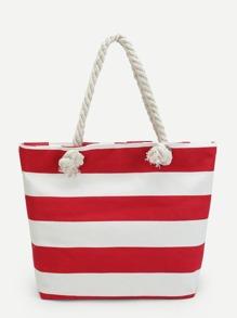 Sailor Striped Tote Bag