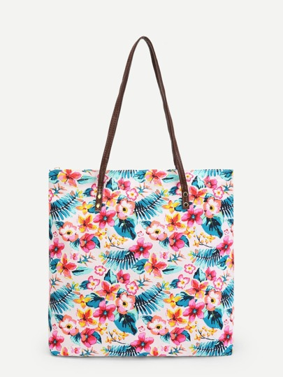 Calico Print Tote Bag