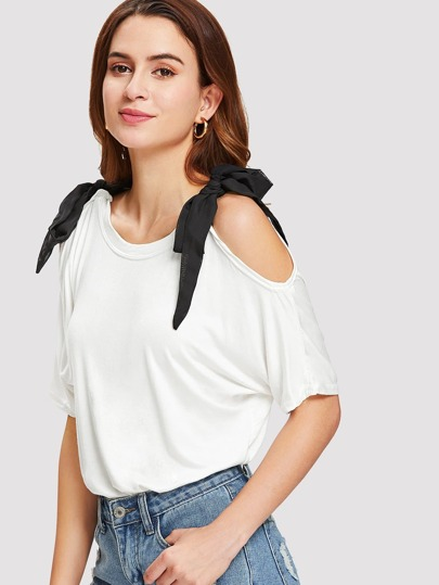 Self Tie Shoulder Tee