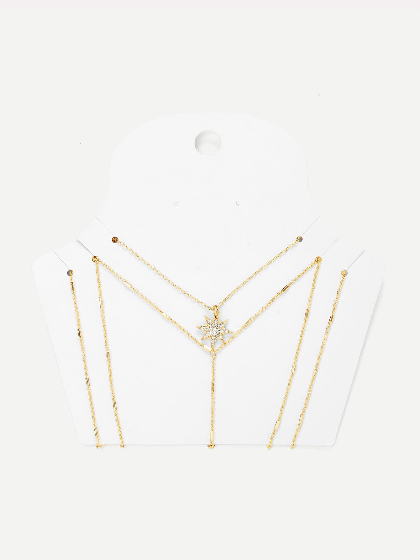 Фото Layerd Chain Body Harness With Necklace