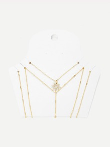 Layerd Chain Body Harness With Necklace