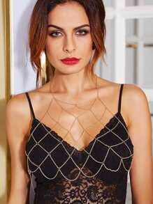 Caged Chain Bralet Harness