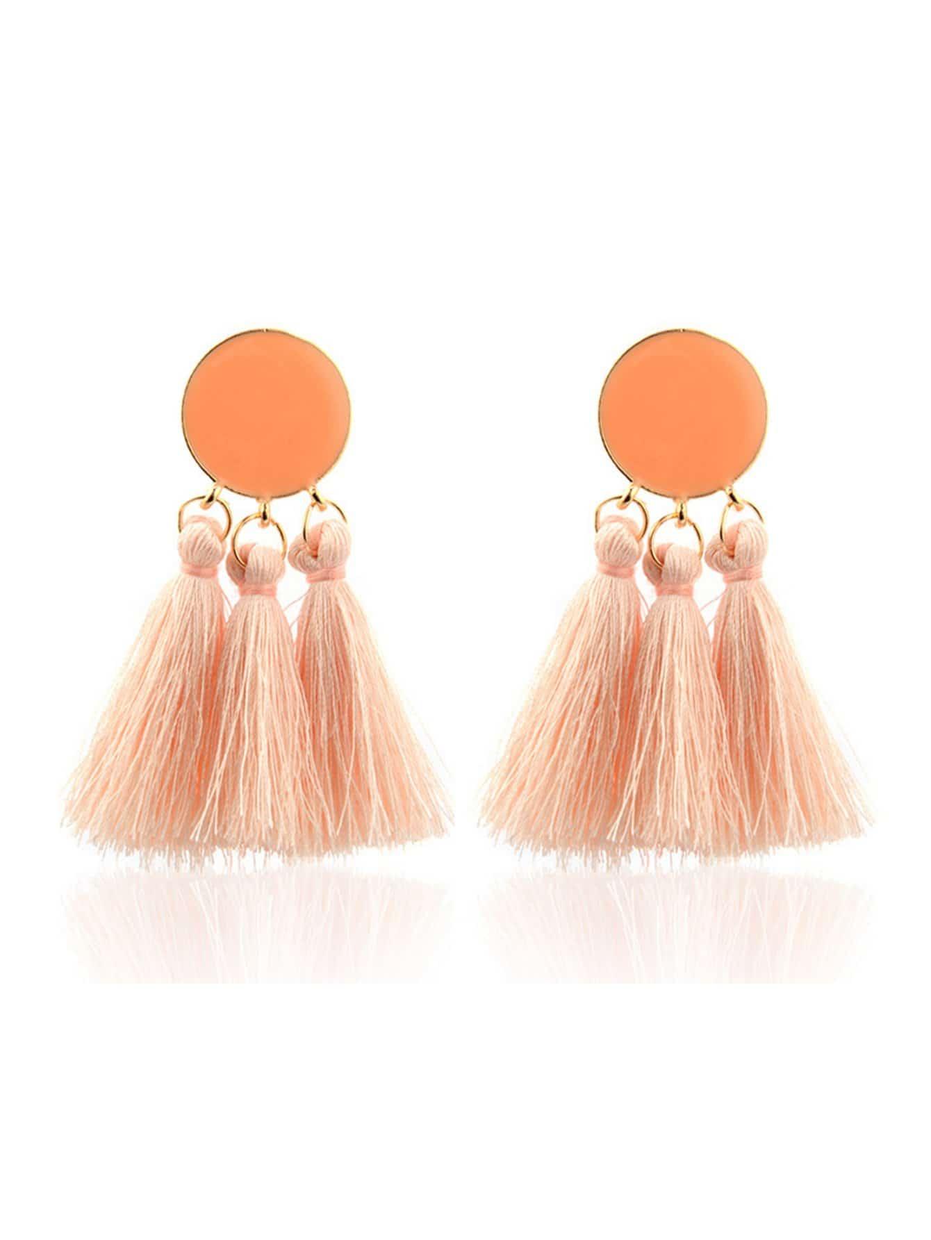 Tassel Dangle Earrings statement rhinestone tassel dangle earrings