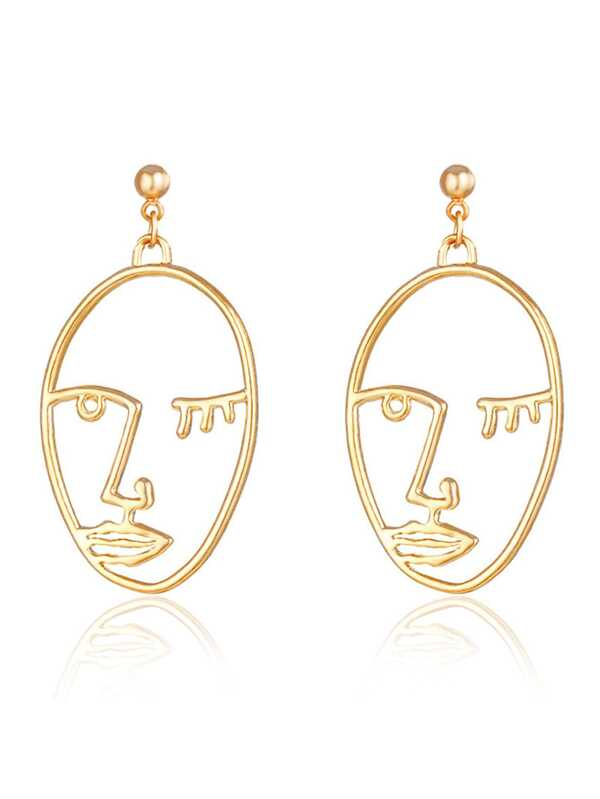 Open Face Drop Earrings by Sheinside