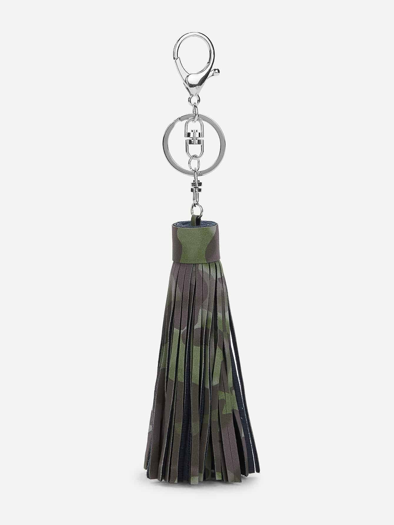 Camo Pattern Tassel Keychain все цены