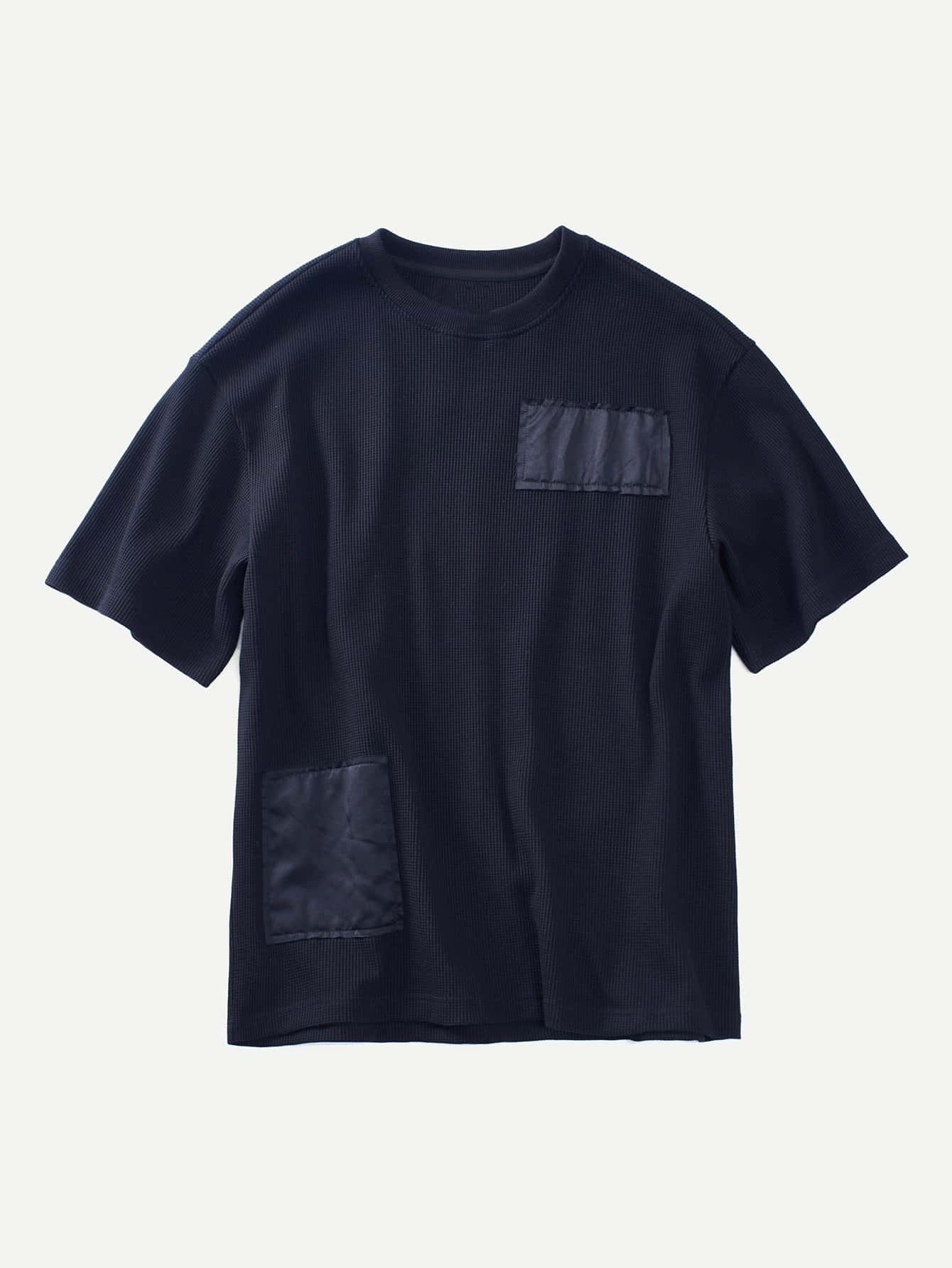 Men Patched Ribbed Tee rtsh180409302