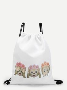 Emoji Monkey Icons Backpacks Bag