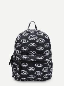 Eye Print Backpacks Bag