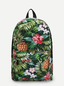 Tropical Print Backpacks Bag