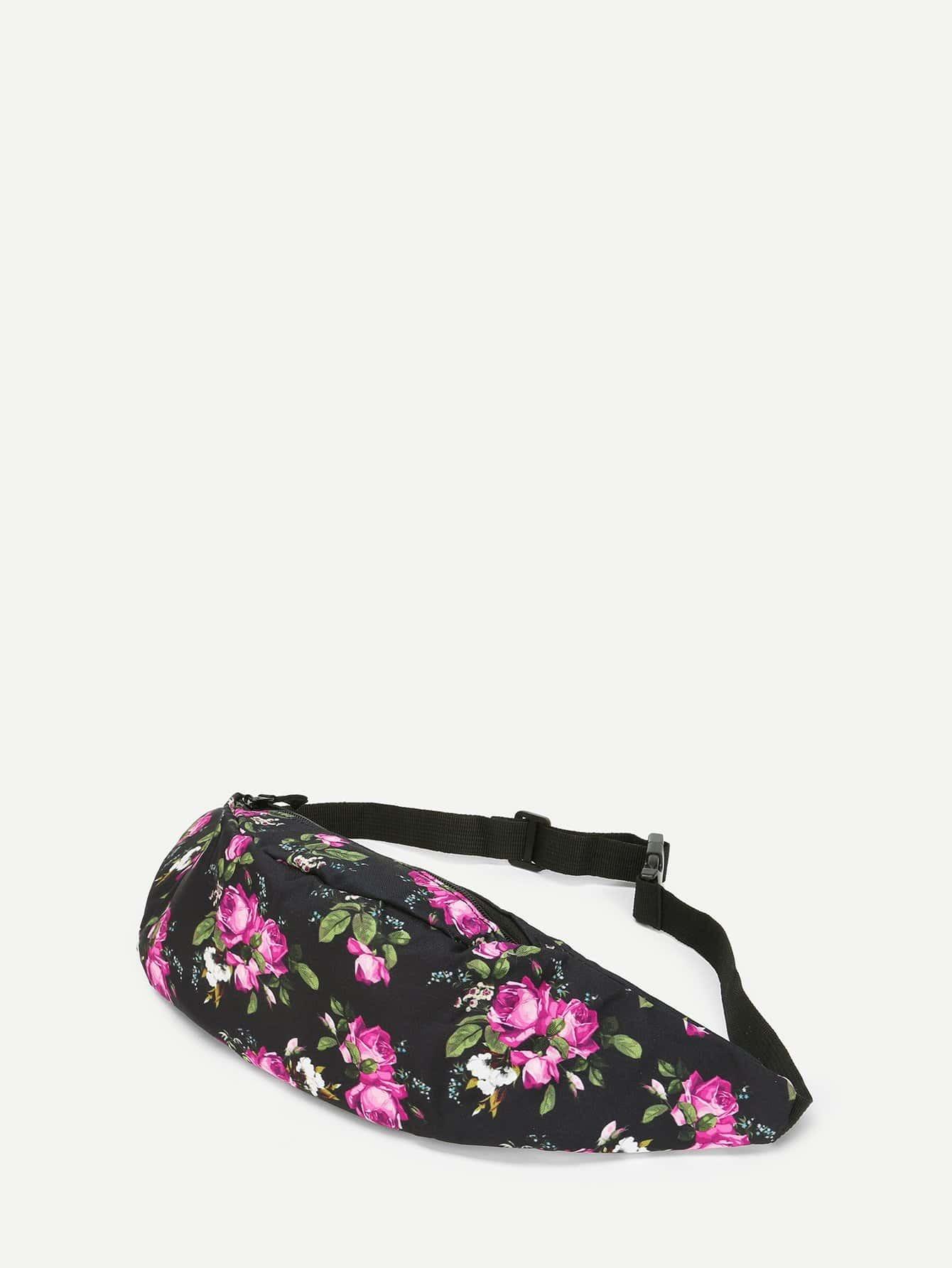 Купить Цветочная сумка на пояс, null, SheIn