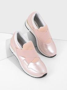 Elastic Buckle Velcro Sneakers