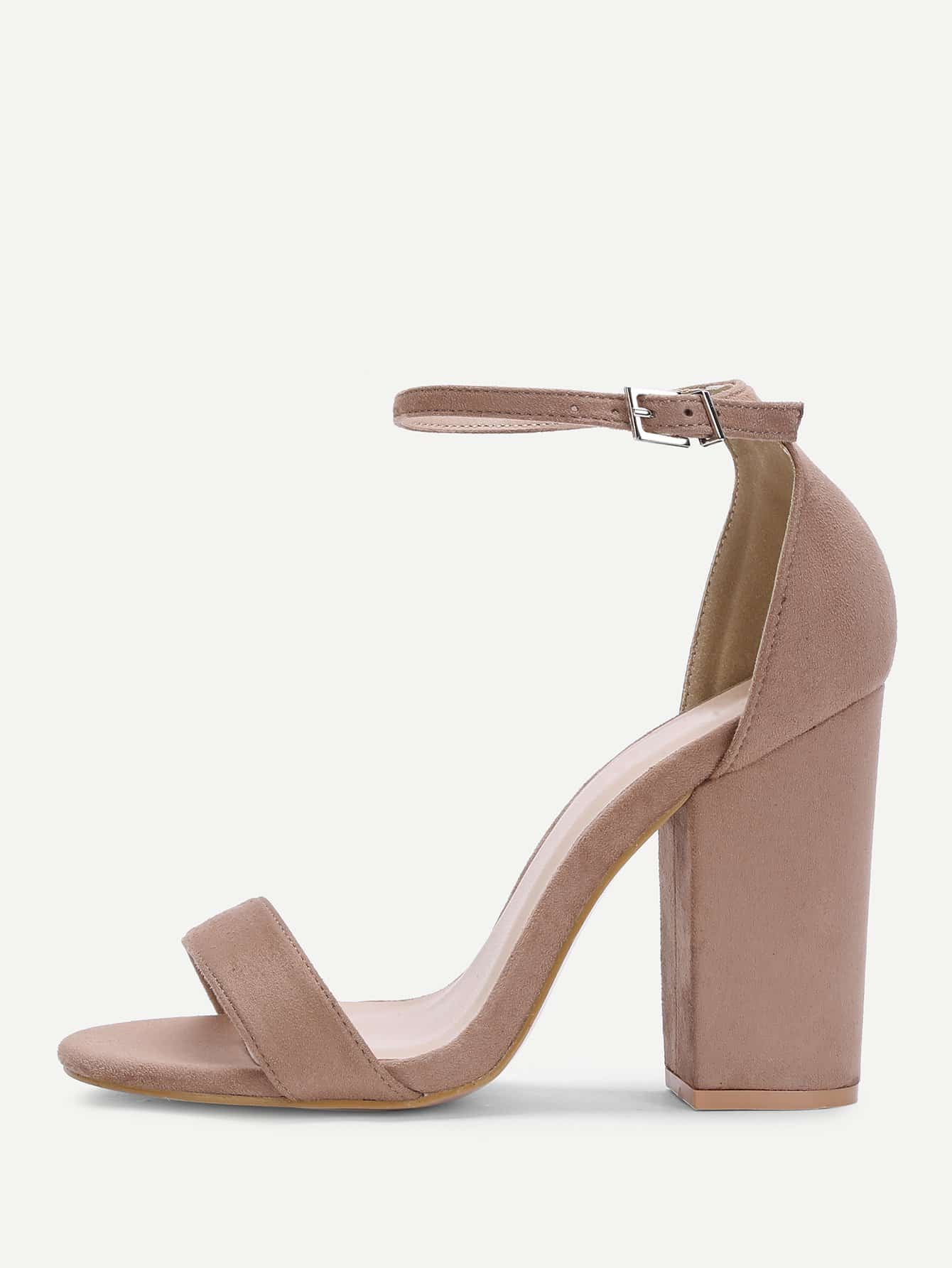 Two Part Ankle Strap Suede Heels two part stiletto heels