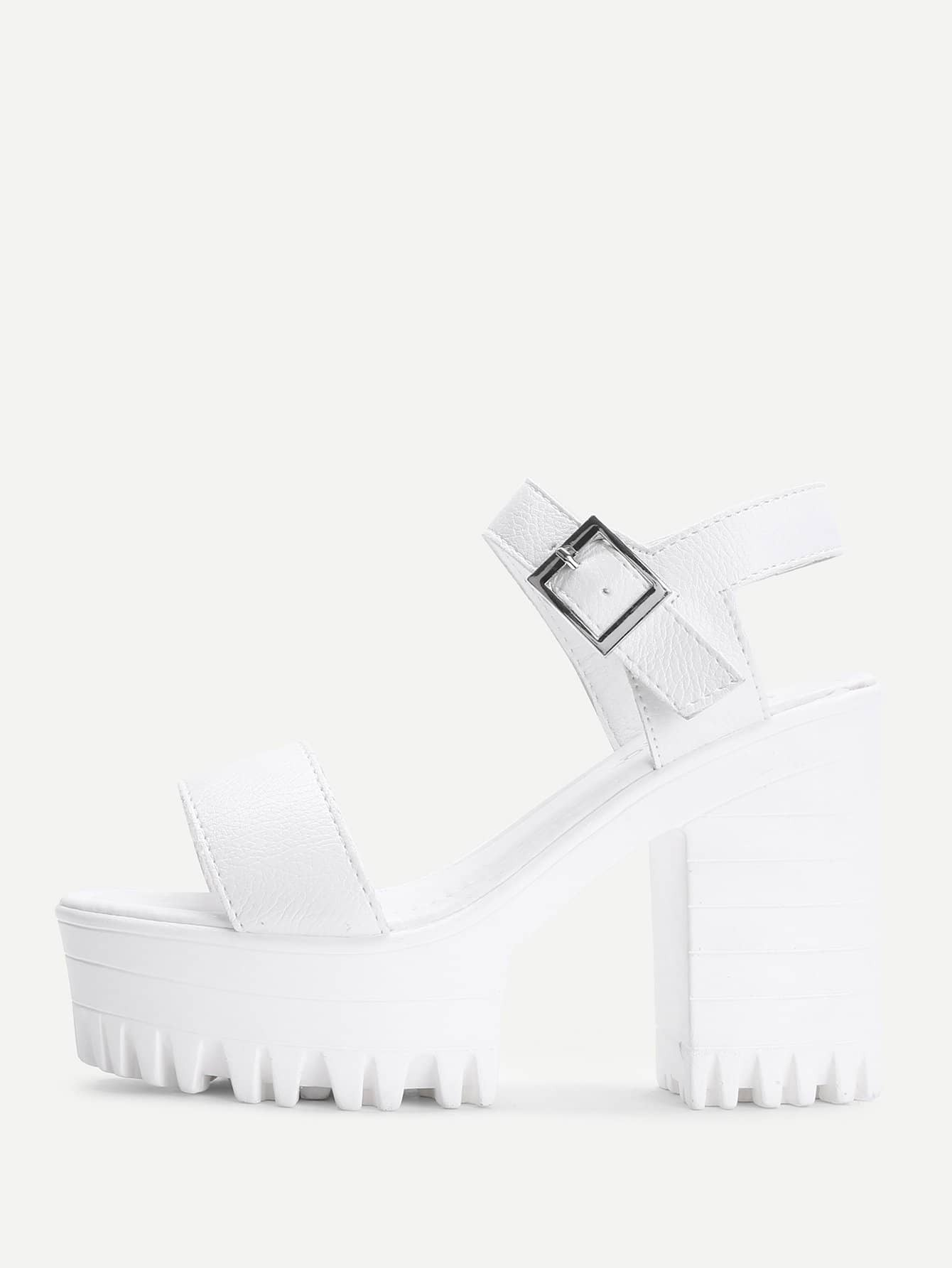 Two Part Ankle Strap Platform Heels two part stiletto heels