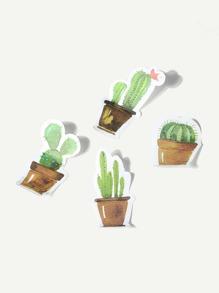 Cartoon Cactus Shaped Sticky Note Set