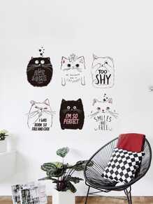 6 Cat Wall Sticker