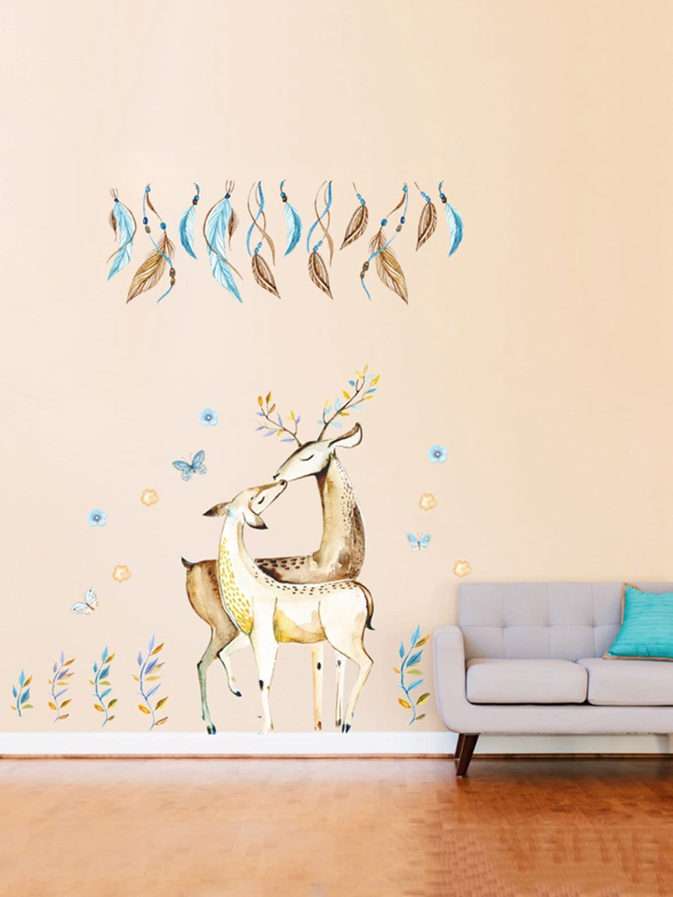 Couple Deer Wall Sticker couple cat wall sticker