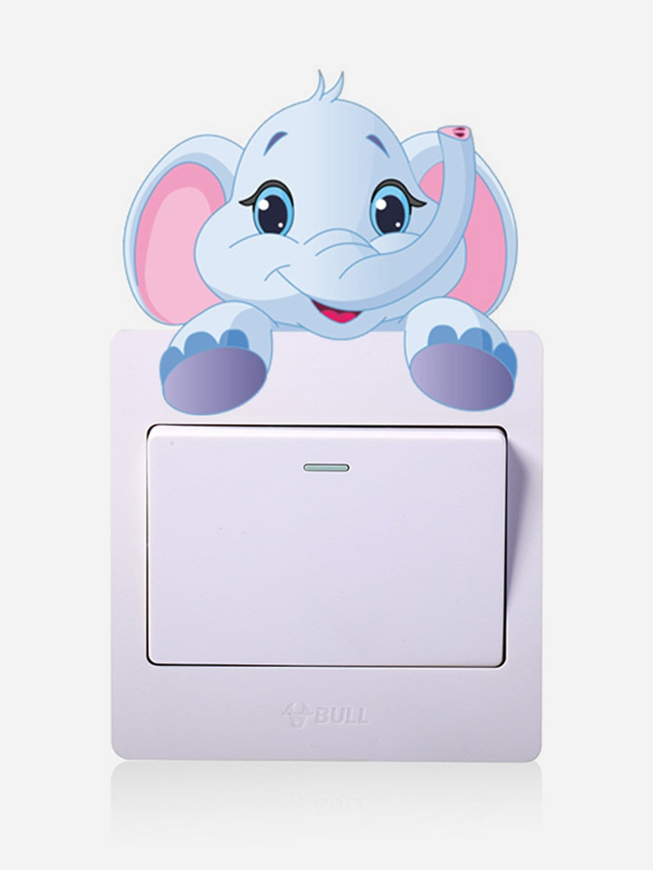 Купить Cartoon Elephant Plug & Switch Button Sticker, null, SheIn