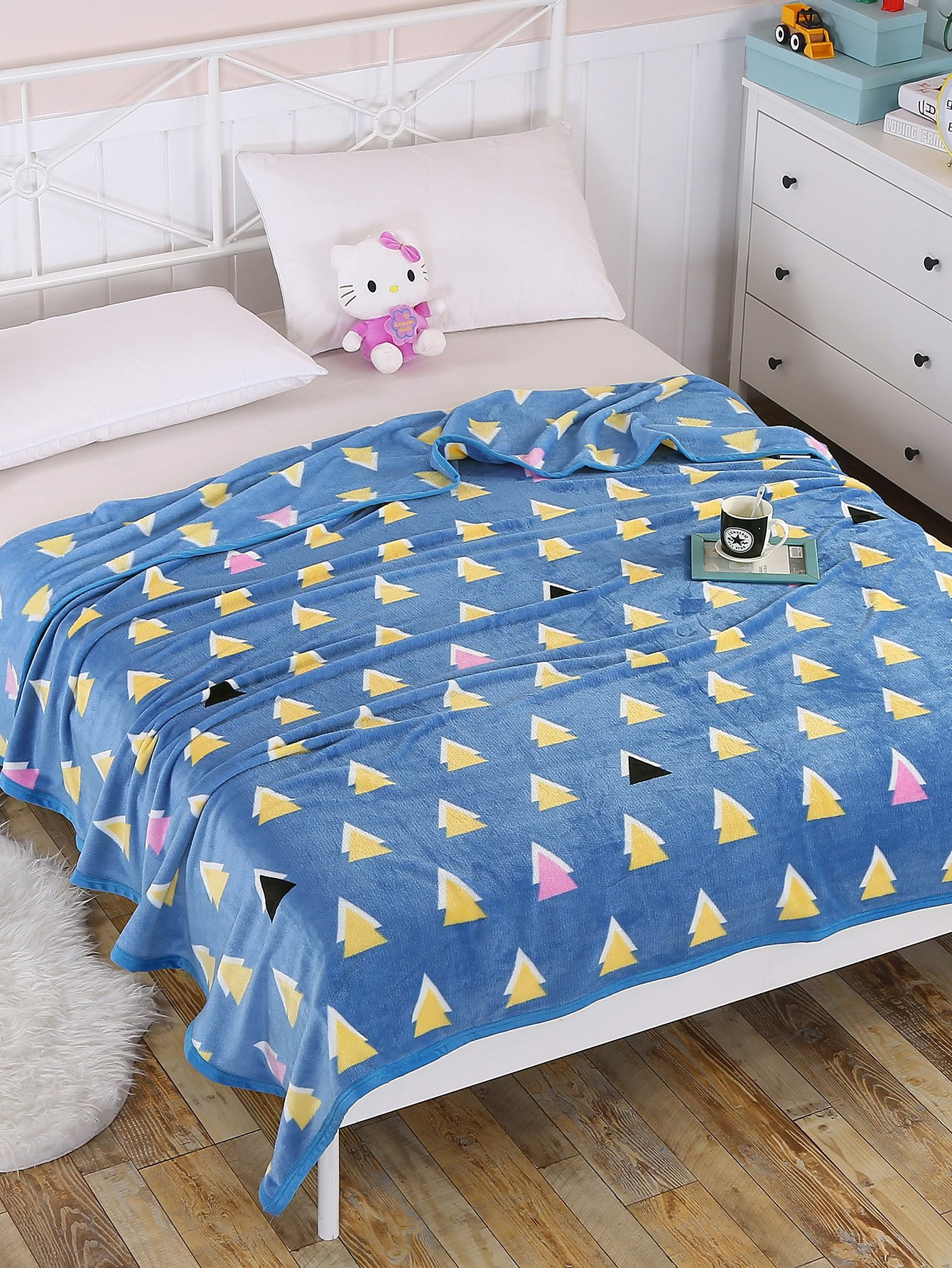 Triangle Pattern Plush Throw Blanket new 2017 throw blanket 1piece 150 200cm 100