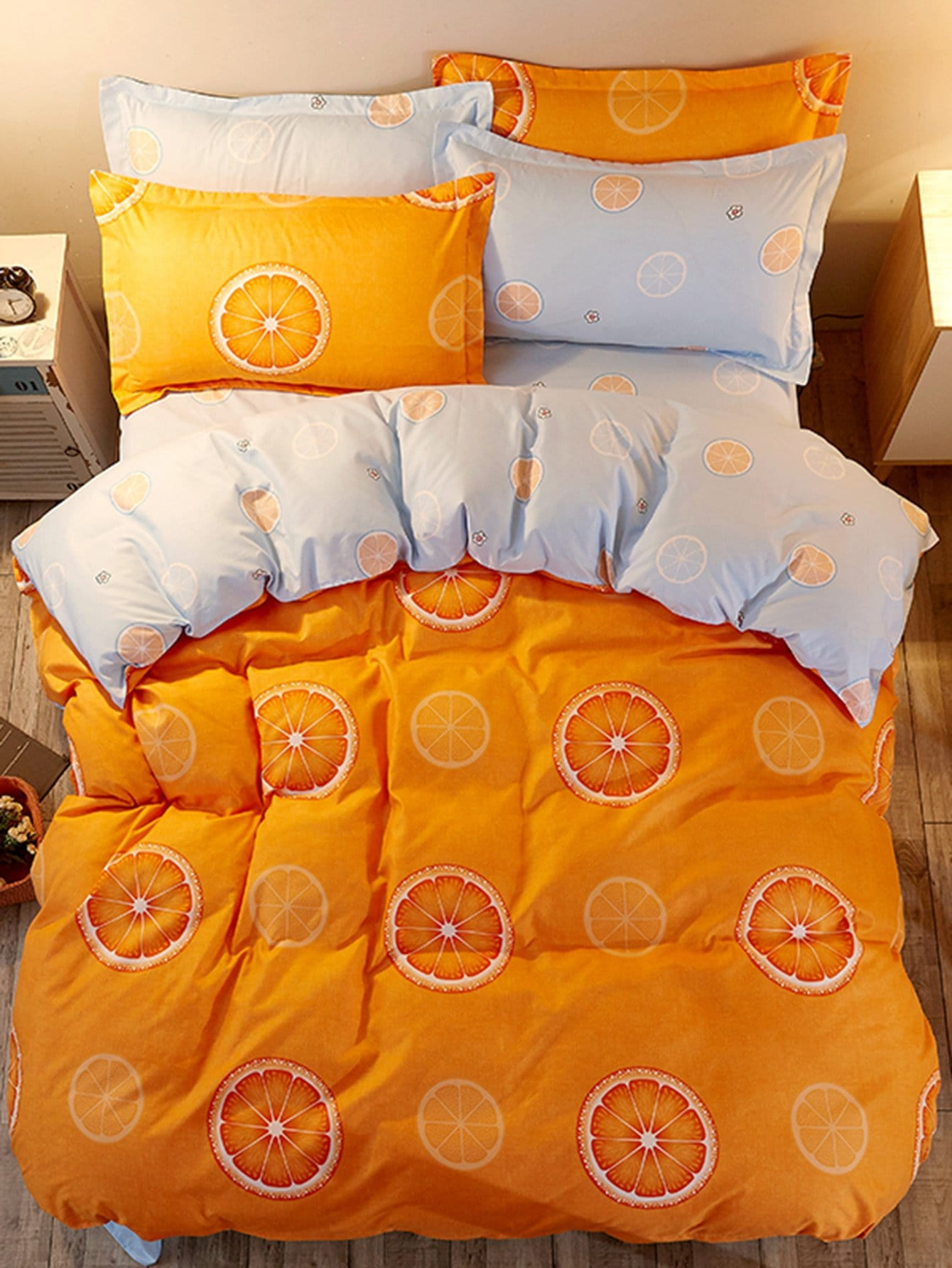 Orange Print Duvet Cover Set парфюмированная вода montale orange flowers 20 мл