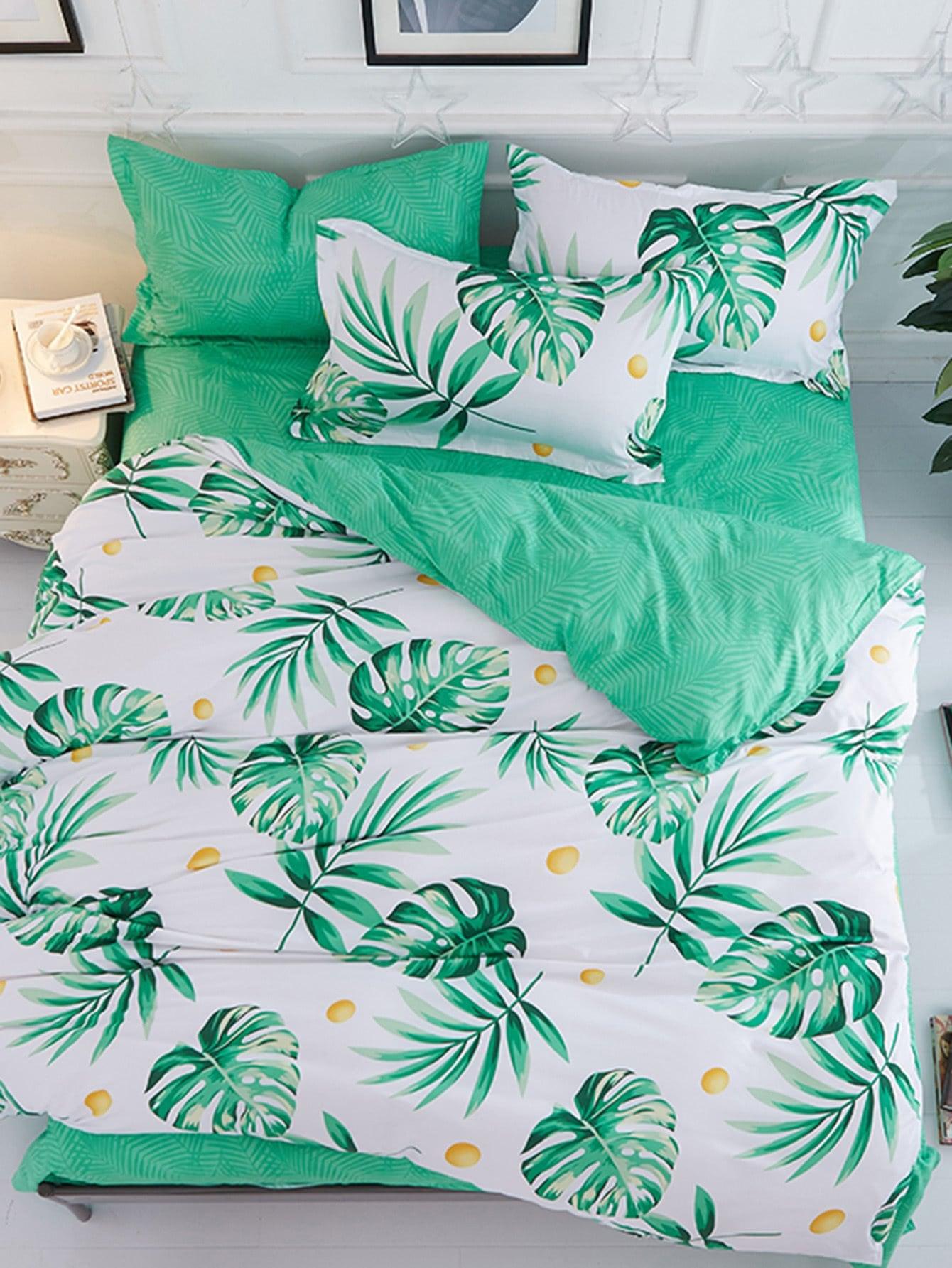 Купить Комплект для кровати с принтом джунгли, null, SheIn