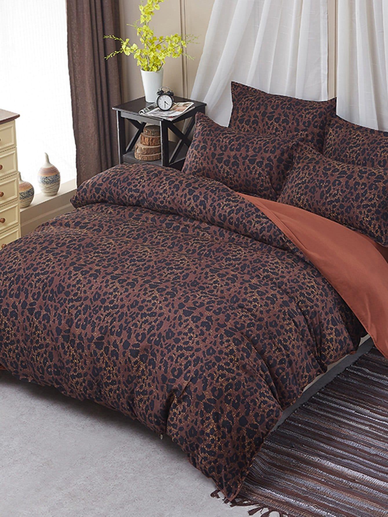 Leopard Print Duvet Cover Set